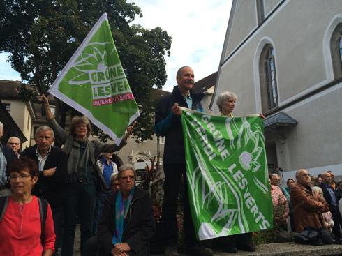 Grüne aus der Stadt Solothurn an der Demo